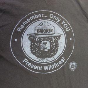 Official Smokey The Bear Brown T-Shirt